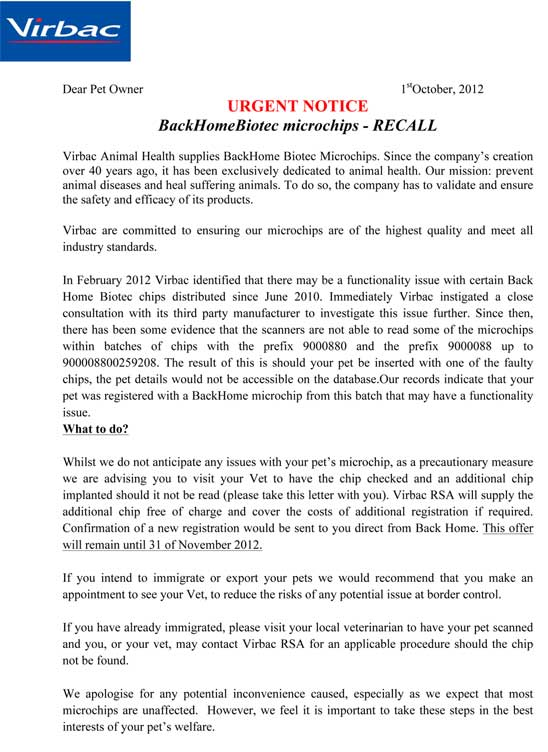 virbac-backhome-announcement-and-microchip-recall-2012-page1
